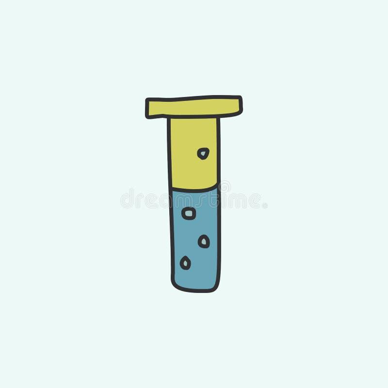 flesje met vloeibaar schetspictogram Element van onderwijspictogram voor mobiel concept en Web apps Het flesje van het gebiedsove royalty-vrije illustratie