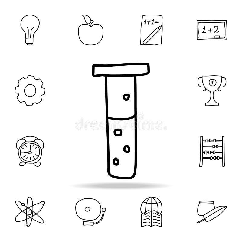 flesje met vloeibaar schetspictogram Element van onderwijspictogram voor mobiel concept en Web apps Het overzichtsflesje met vloe stock illustratie