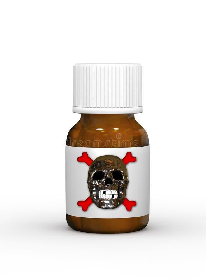 Flesje van vergift vector illustratie