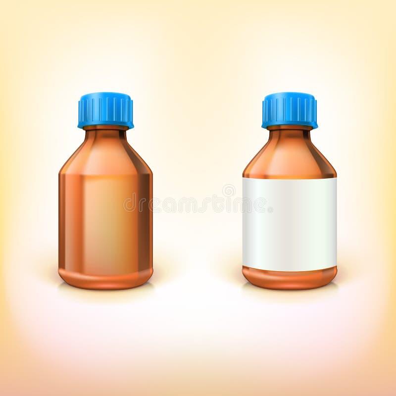 Flesje voor drugs. royalty-vrije illustratie