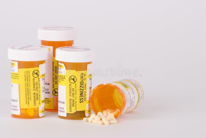 Flessen 3 van de Pil van het Medicijn van het voorschrift stock foto