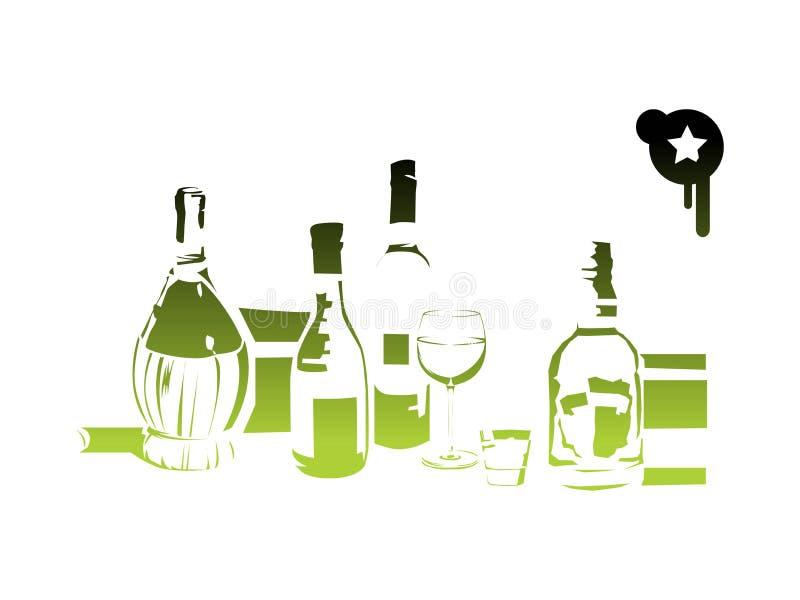 Flessen vector illustratie
