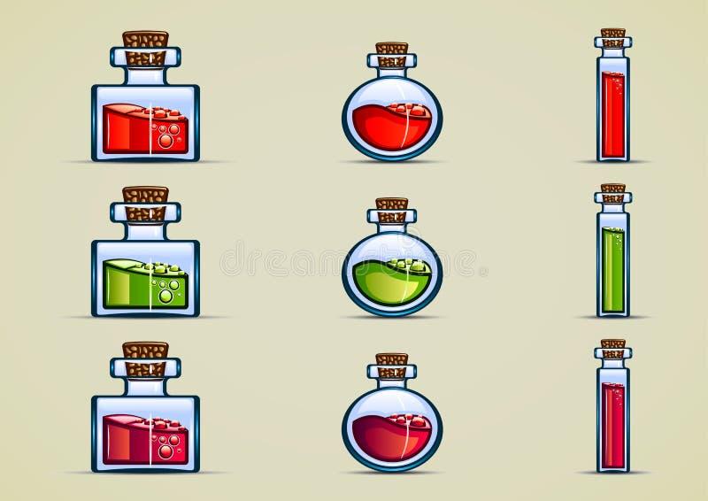 Flessen drankje vector illustratie