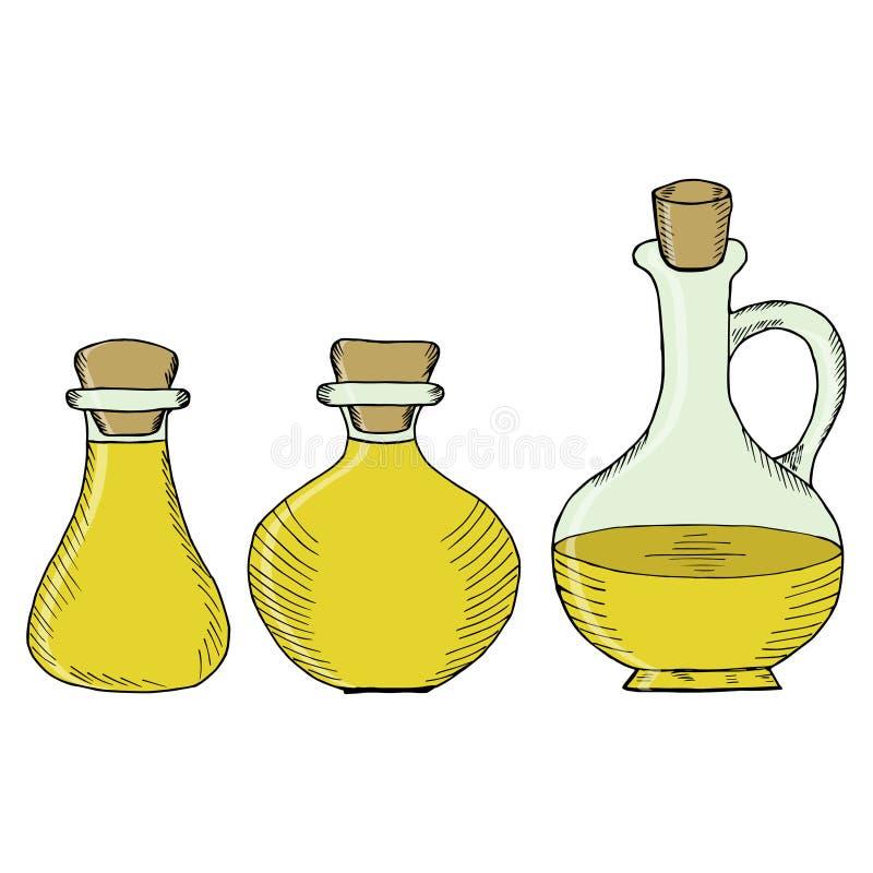 Flessen, kruiken 2 in kleur royalty-vrije illustratie