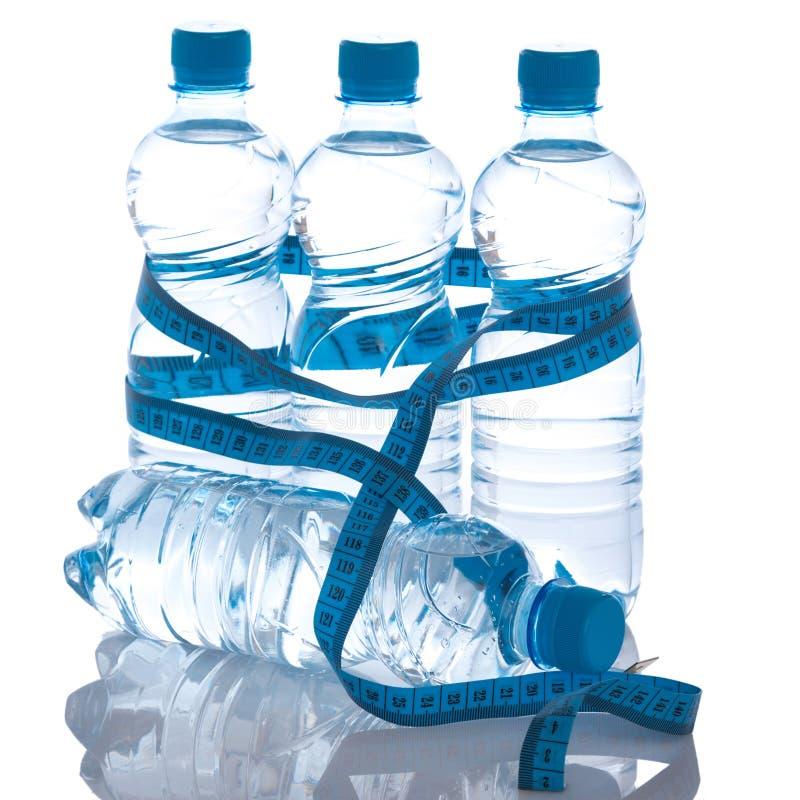 Flessen met water royalty-vrije stock foto