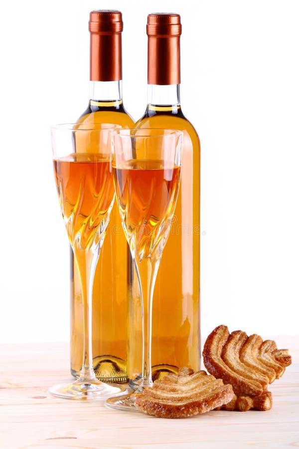 Flessen passitowijn royalty-vrije stock afbeeldingen