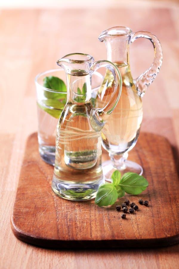 Flessen tafelolie royalty-vrije stock afbeeldingen
