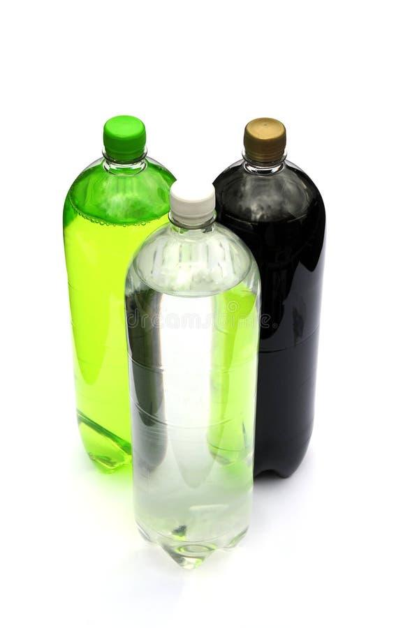 Flessen van bruisende drank royalty-vrije stock fotografie