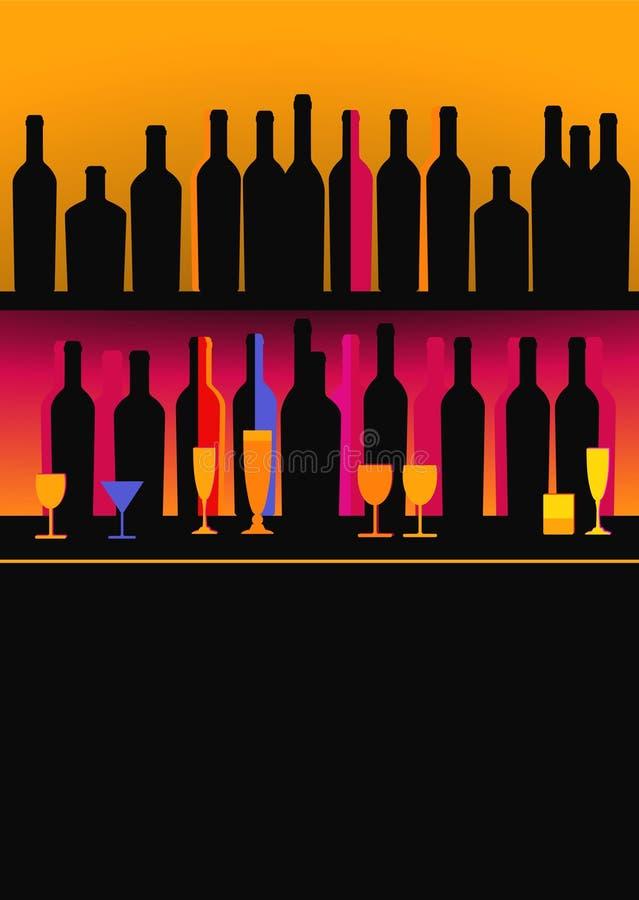 Flessen van geesten stock illustratie