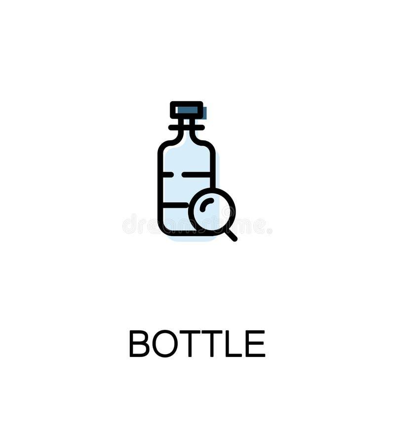 Flessen vlak pictogram vector illustratie