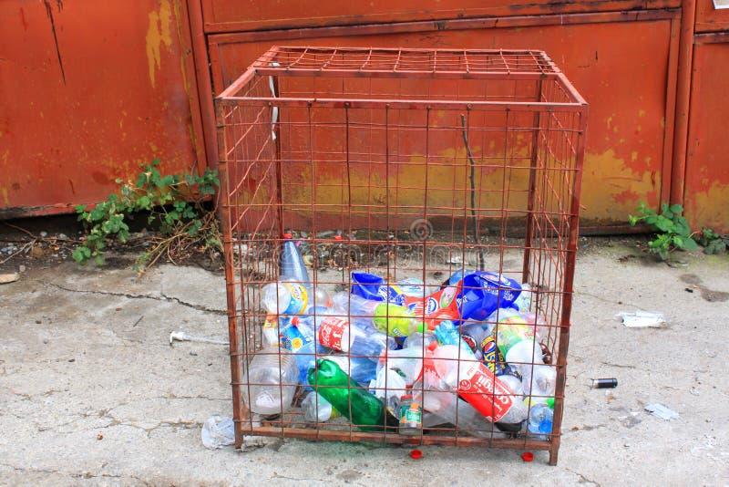 Flessen Voor Recycling Redactionele Stock Foto
