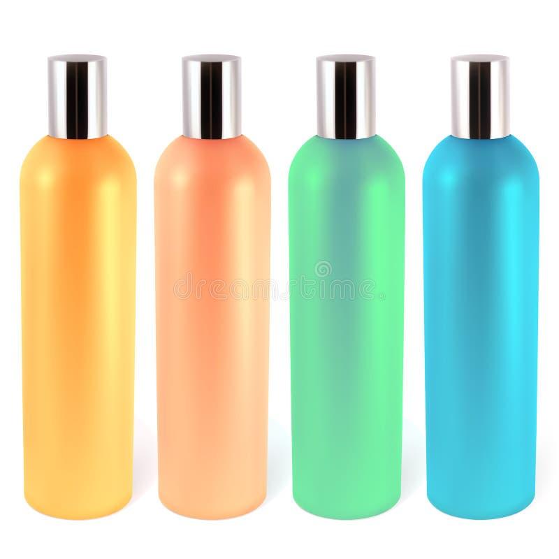 Flessen voor shampoo stock illustratie