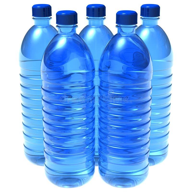 Flessen water royalty-vrije illustratie