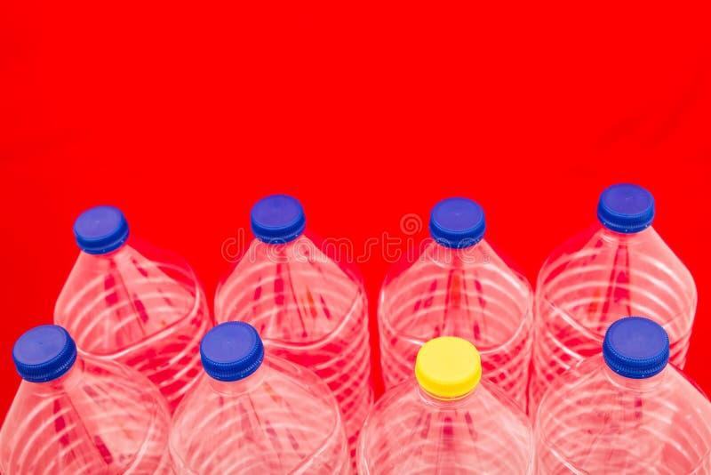 Flessen water stock foto