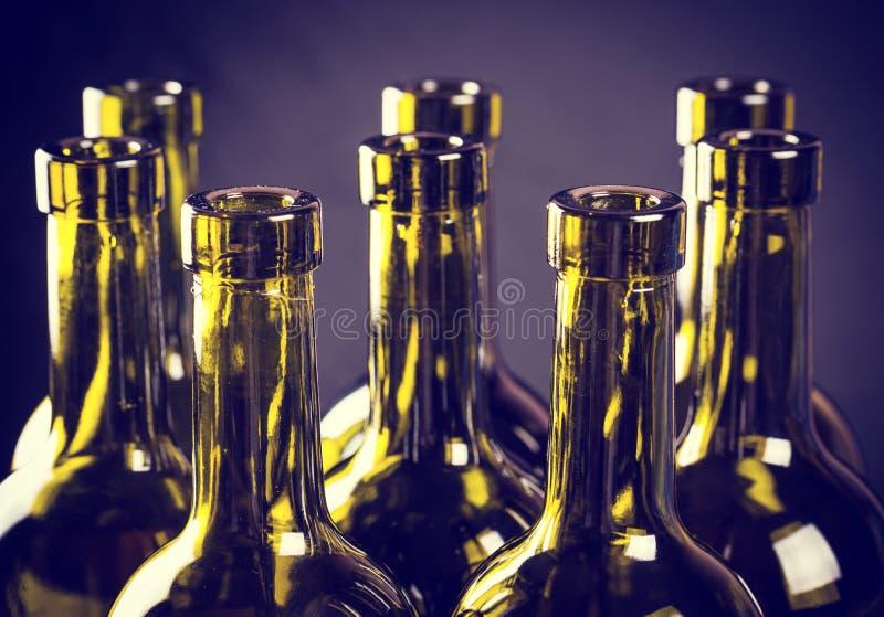 Flessen wijn royalty-vrije stock fotografie