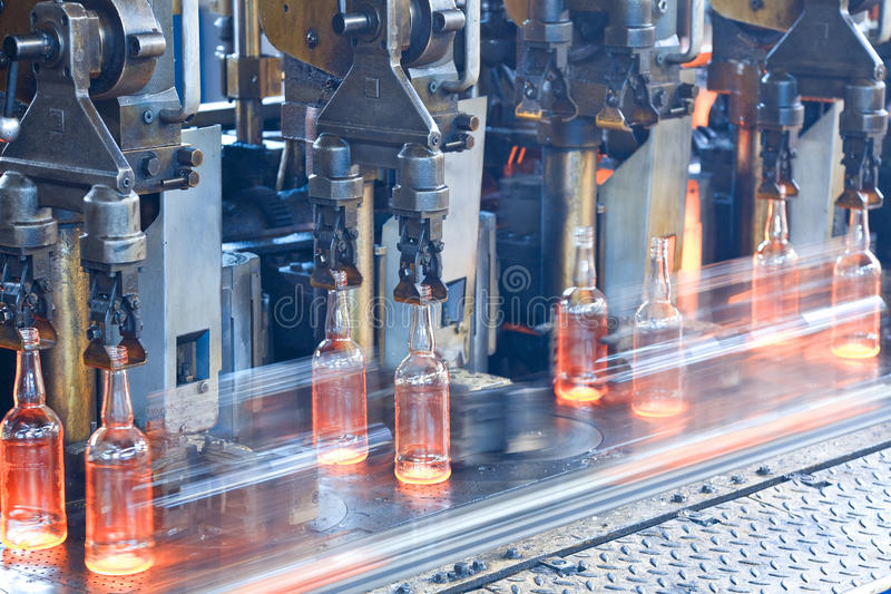 Flessenfabriek royalty-vrije stock foto