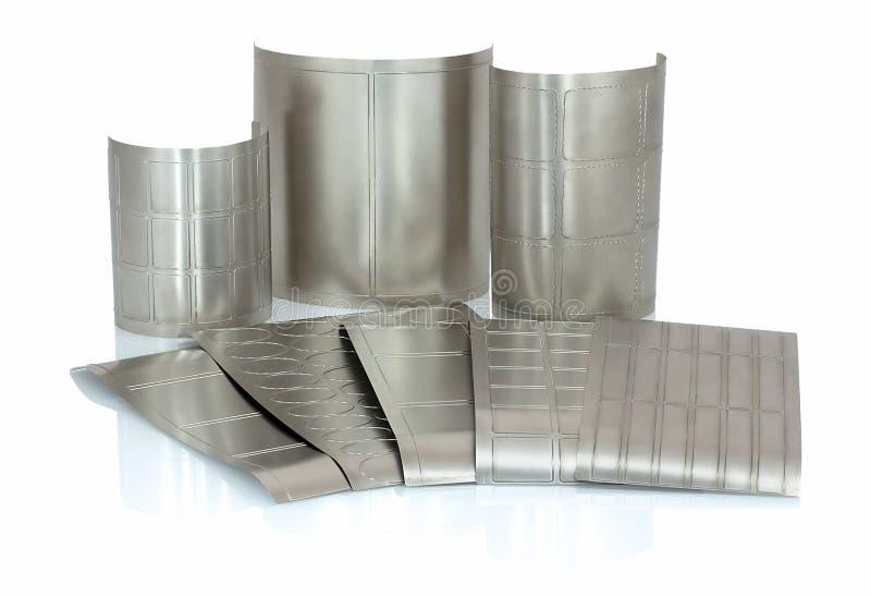Flessibile muoia per tagliare sulla stampatrice rotatoria, flessografica o in-linea della stampa utilizzata per fabbricazione del fotografie stock