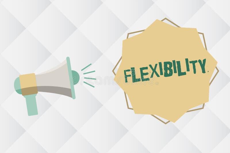 Flessibilità del testo della scrittura Qualità di significato di concetto di piegamento modificata facilmente senza rompere allun illustrazione di stock