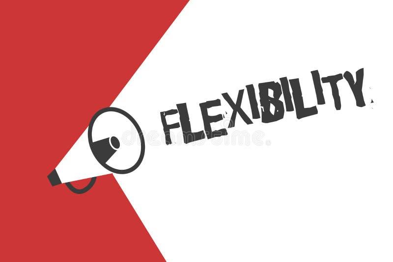 Flessibilità del testo di scrittura di parola Concetto di affari per qualità di piegamento modificata facilmente senza rompere al illustrazione vettoriale