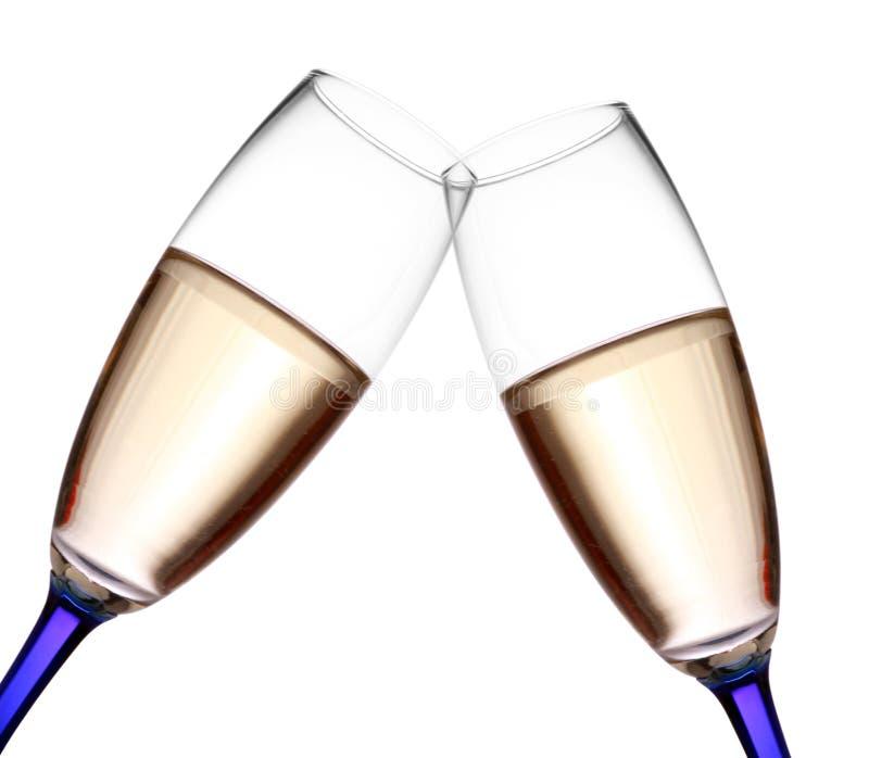 flet szampańska grzanka zdjęcia stock