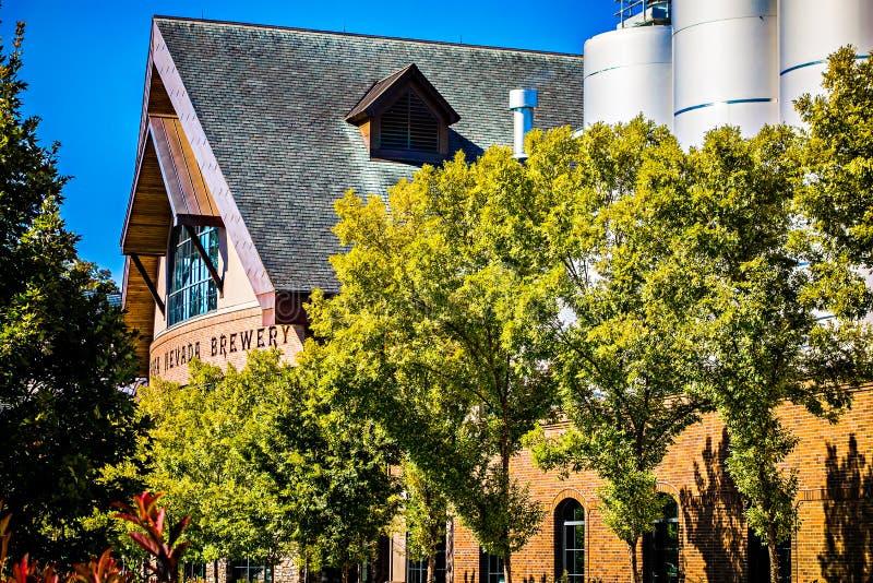 FLETCHER, NC 15 ottobre 2016 - sierra Nevada Brewery fotografia stock