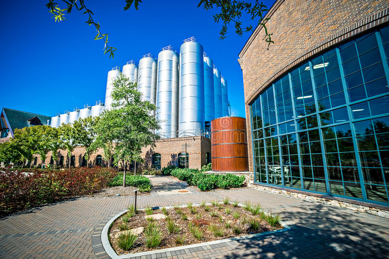 FLETCHER, NC 15 ottobre 2016 - sierra Nevada Brewery fotografia stock libera da diritti