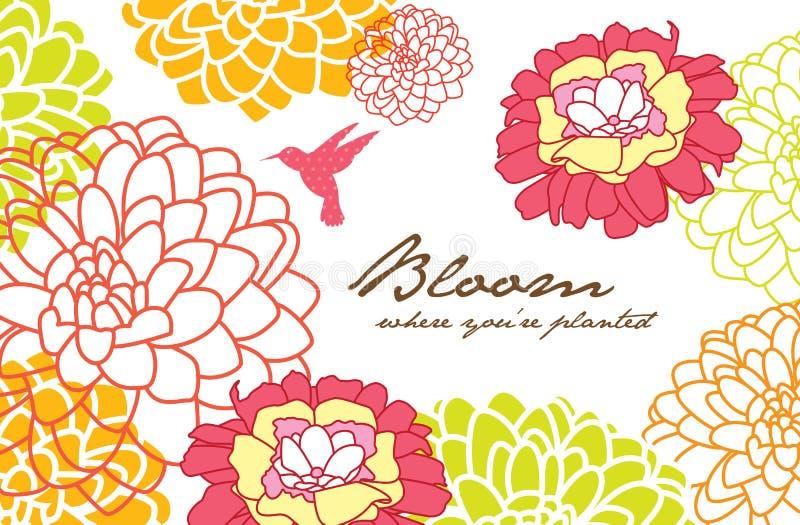 Fleur illustration stock