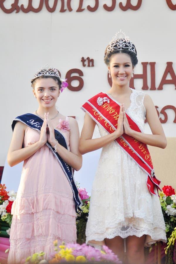 Fleur 2012 de Mlle Chiangmai photographie stock