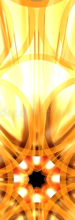 Fleur 3 d'or illustration stock
