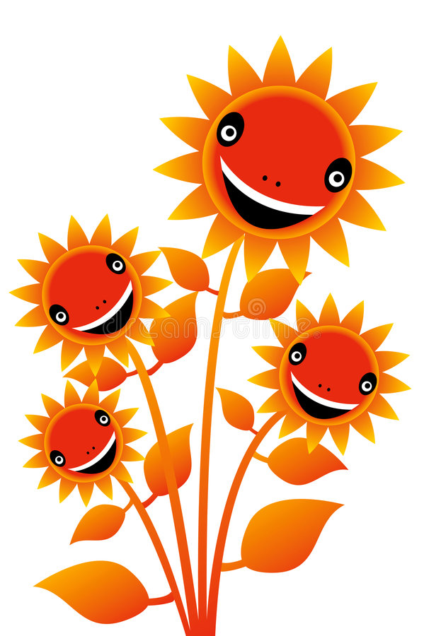 Fleur 4 de sourire illustration libre de droits