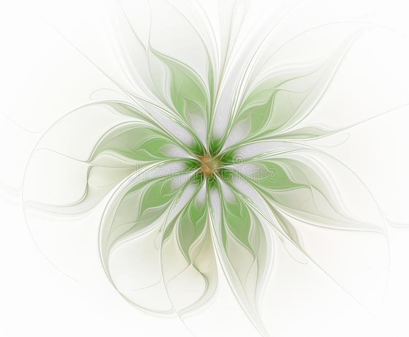 Fleur abstraite de vert de fractale illustration stock