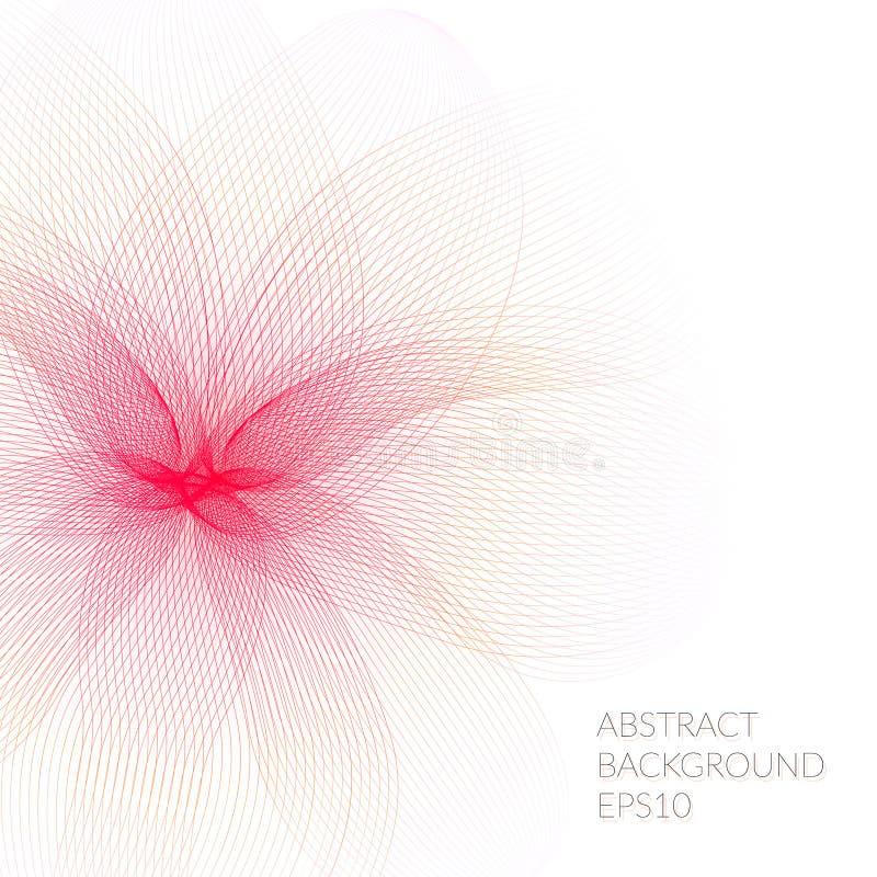 Fleur abstraite des lignes sur un fond blanc illustration de vecteur
