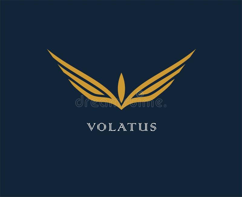 Fleur abstraite, logo de vecteur d'ailes La livraison, affaires, cargaison, succès, argent, affaire, contrat, équipe, symbole de  illustration de vecteur