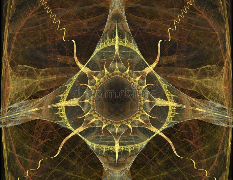 Fleur abstraite sauvage de Sun illustration de vecteur
