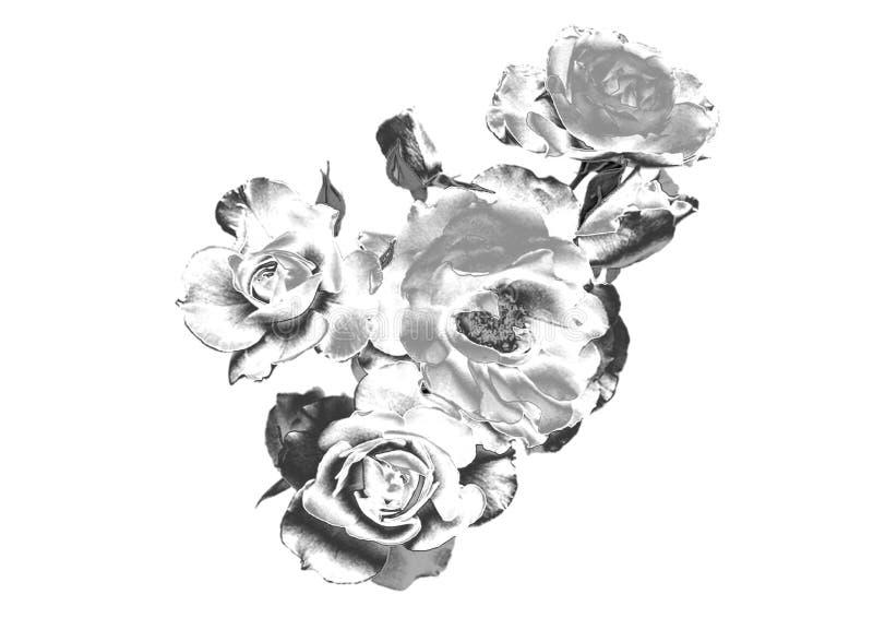 Fleur argentée photographie stock