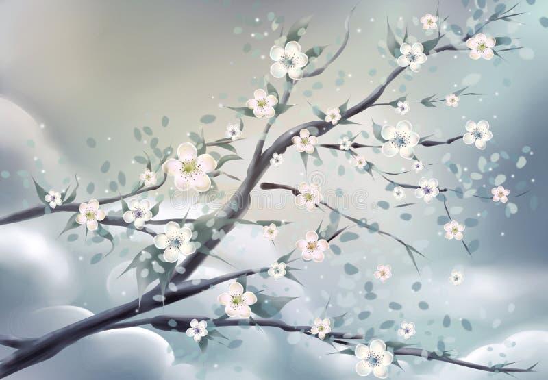 Fleur Asie illustration de vecteur