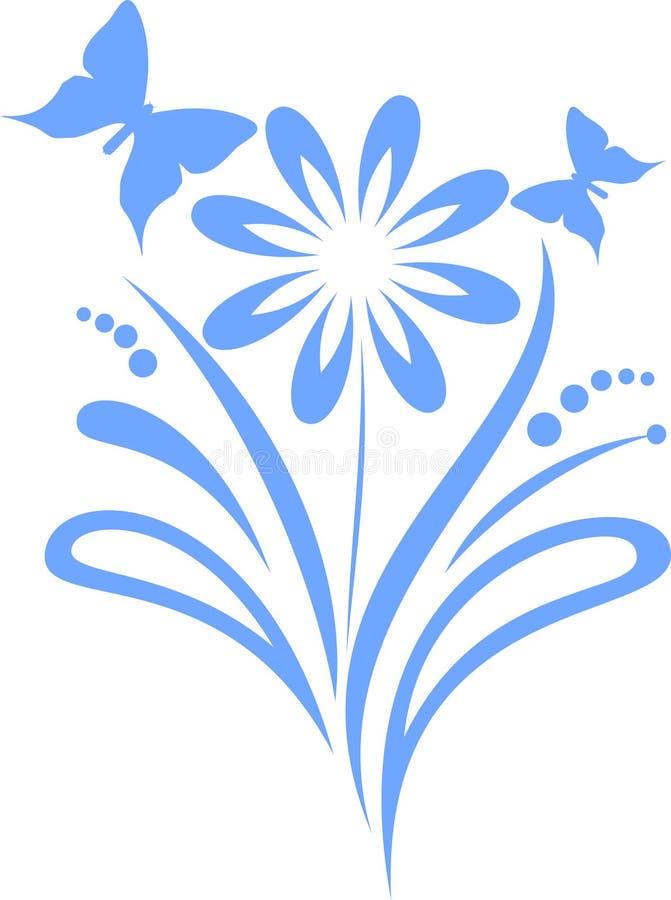 Fleur avec les guindineaux illustration libre de droits