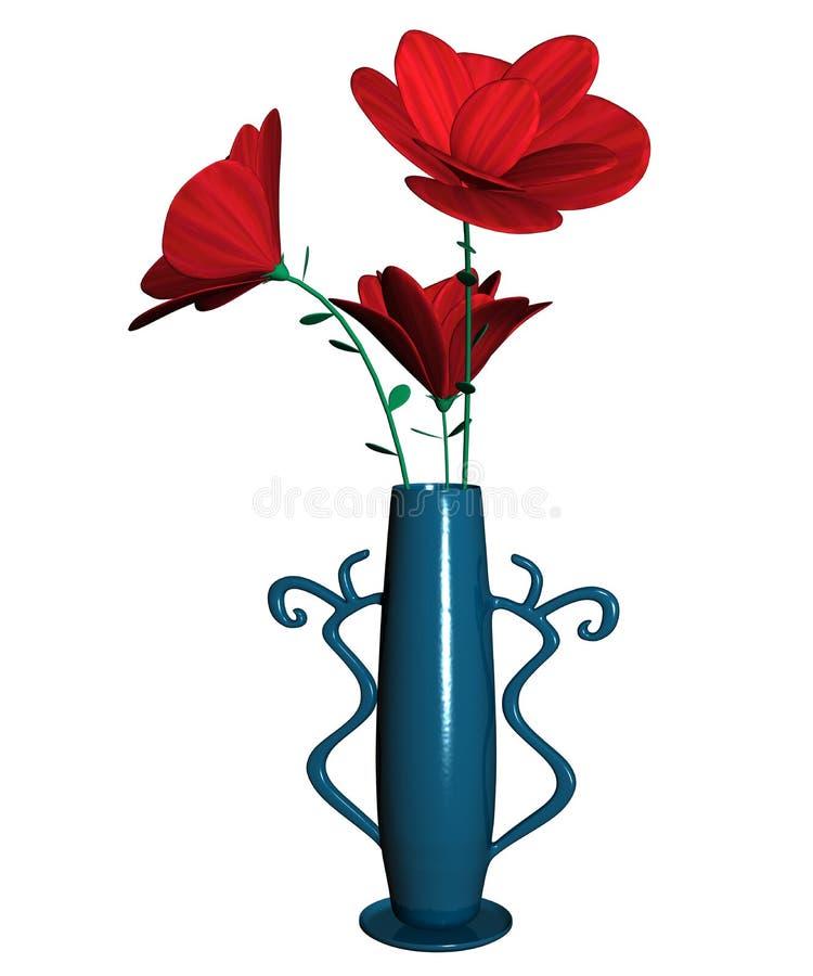 Fleur avec Vase_Raster illustration de vecteur
