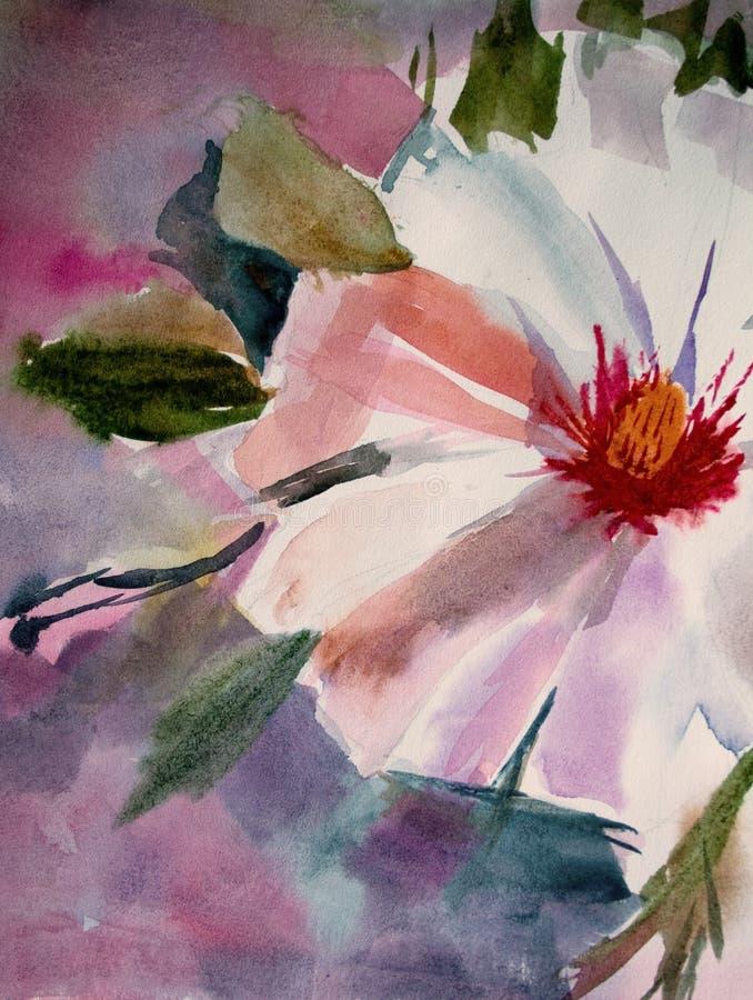 Fleur blanche de source illustration libre de droits