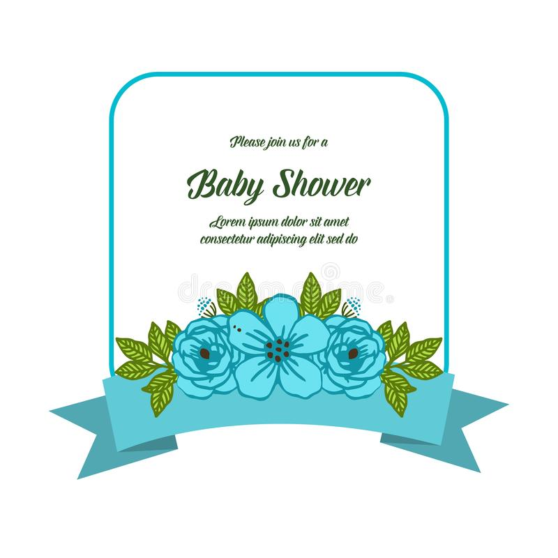 Fleur bleue d'illustration de vecteur la diverse encadre des fleurs pour la fête de naissance illustration libre de droits