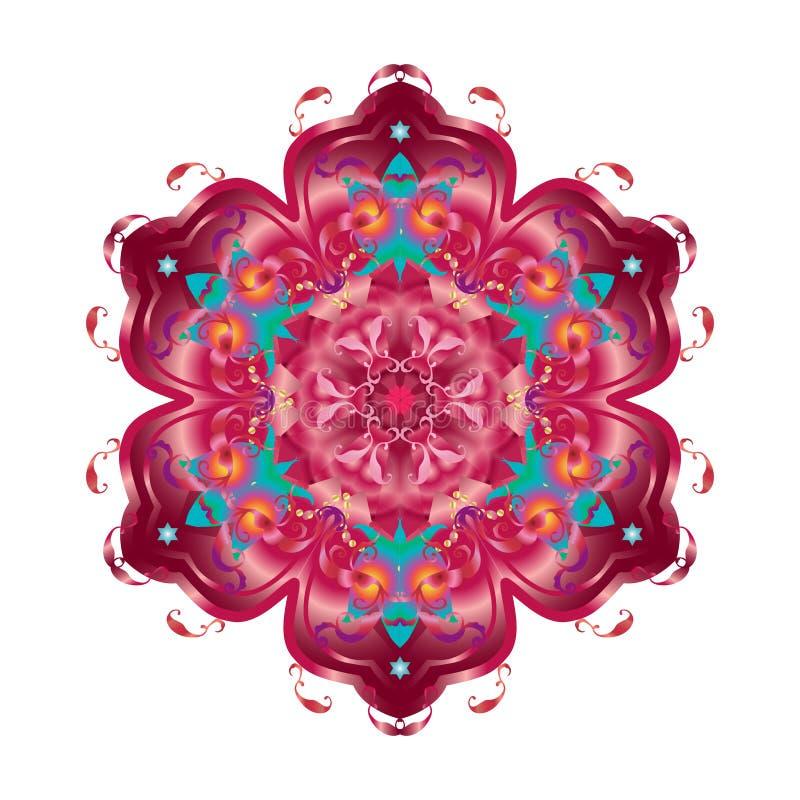 Fleur décorative orientale illustration de vecteur