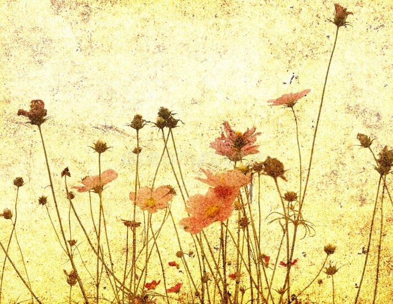 Fleur démodée illustration de vecteur