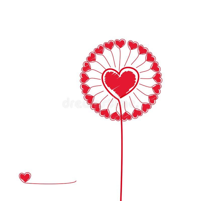 Fleur d'amour. illustration de vecteur