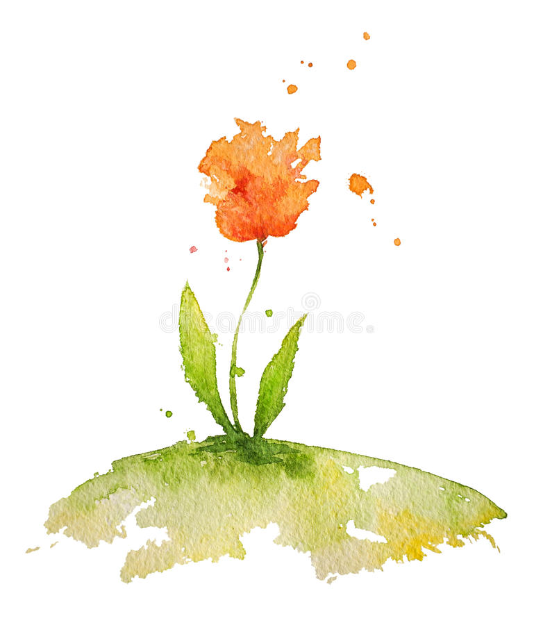 Fleur d'aquarelle illustration stock