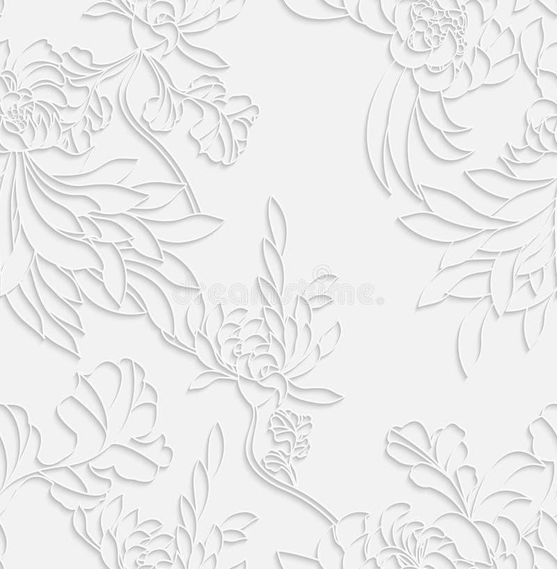 Fleur d'aster 3d blanc avec l'ombre réaliste illustration stock