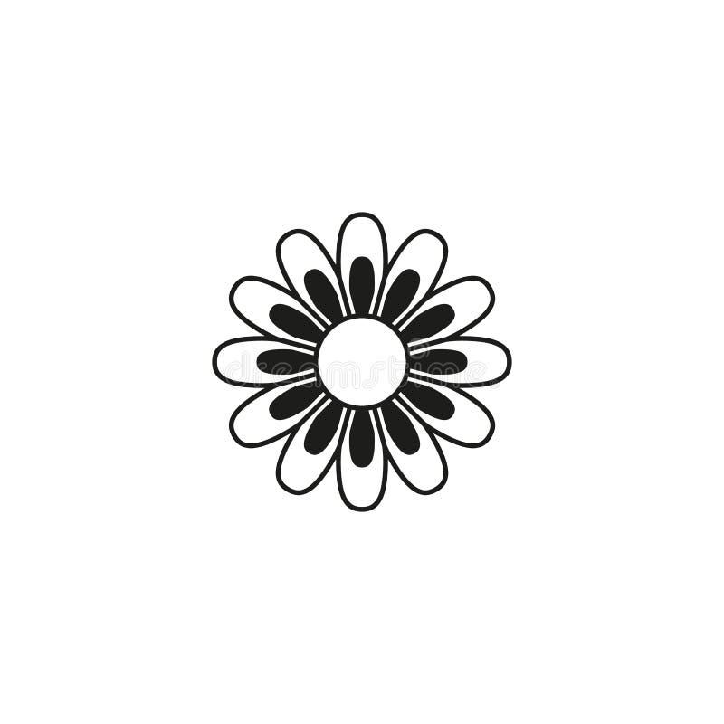 Fleur d'icône d'été illustration libre de droits