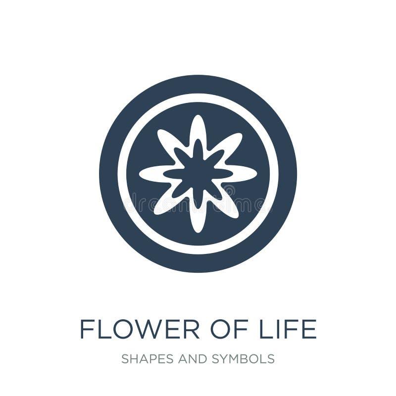 fleur d'icône de la vie dans le style à la mode de conception fleur d'icône de la vie d'isolement sur le fond blanc fleur de l'ic illustration libre de droits