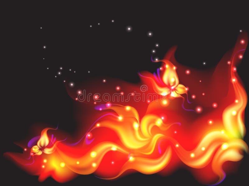 Fleur d'incendie illustration de vecteur