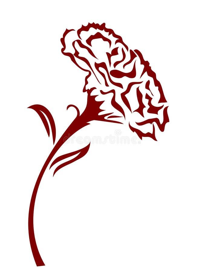 Fleur d'oeillet illustration de vecteur
