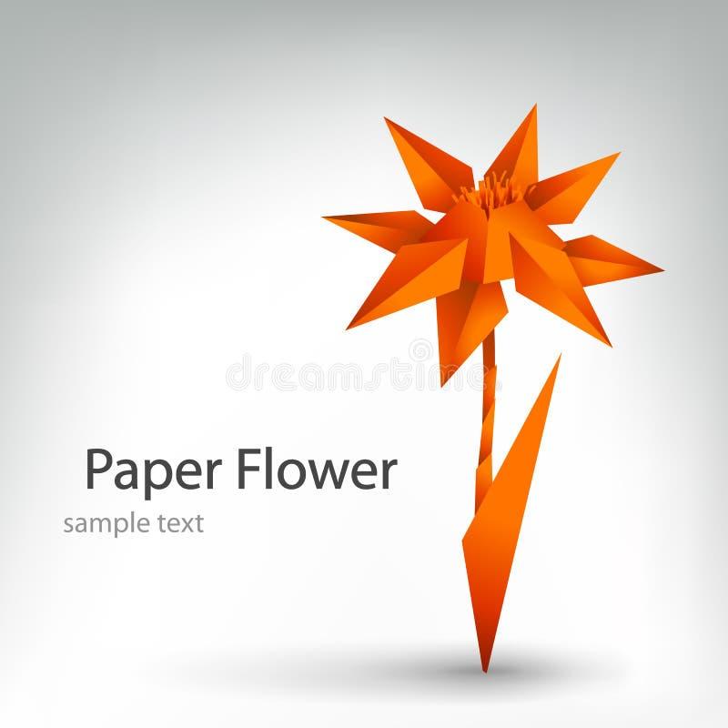 Fleur d'Origami illustration stock